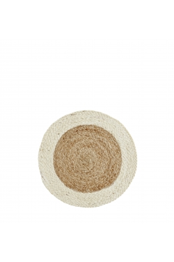Set de table en jute rond beige D: 40cm