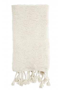 Plaid en coton à franges 130x170 cm