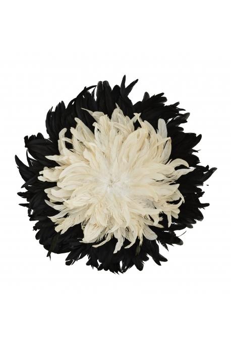 Grand juju hat noir & beige D: 60 cm