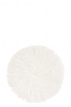 Grand rond de plumes blanc D:46cm