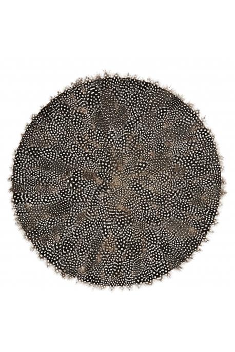Rond de plumes mouchetées D:46cm