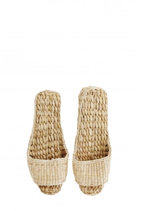 Chaussons en paille - Approx. L:26 cm
