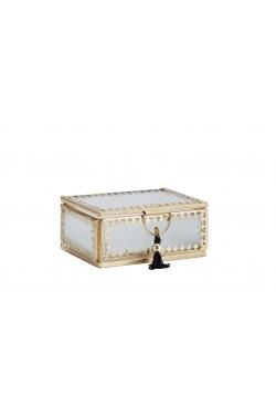 PETITE vitrine & POMPON dorée 9x6,5x4 cm