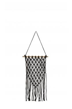 Tissage coton & bois noir 28x78 cm