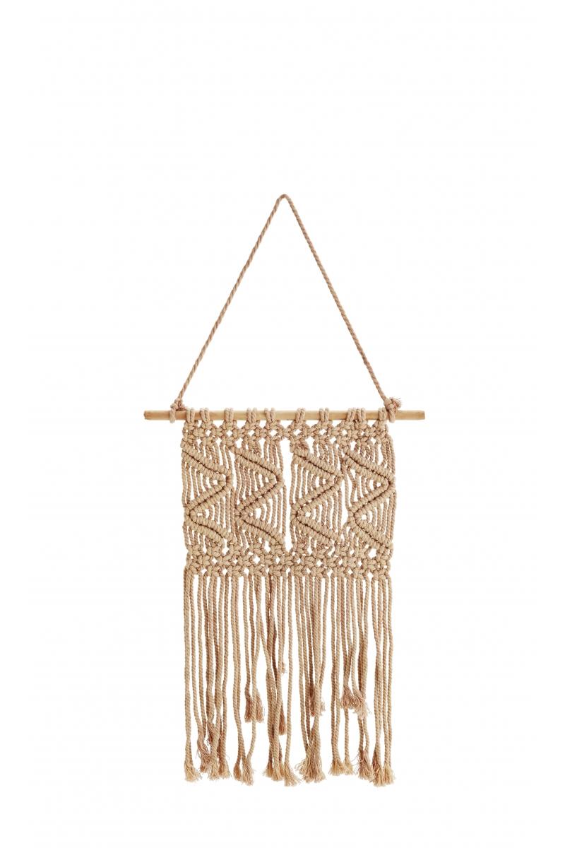 Tissage coton & bois nude 40x85 cm