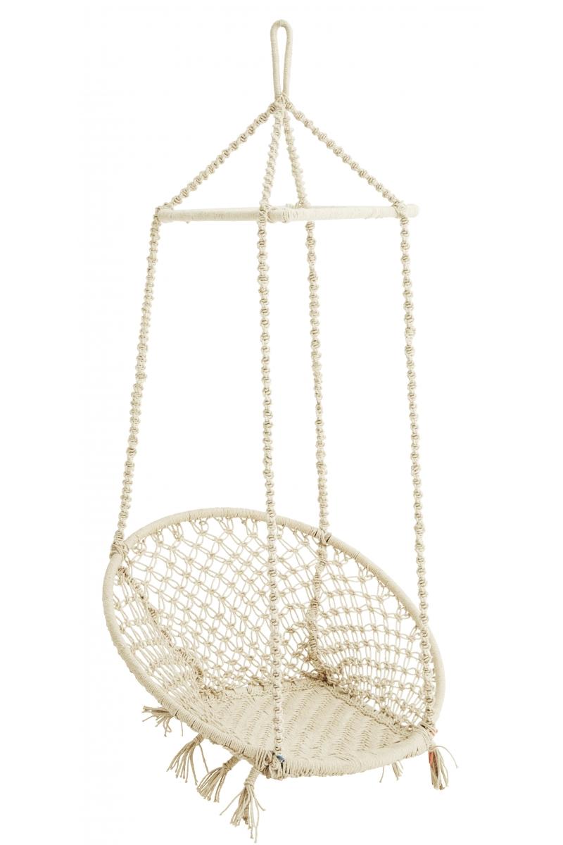 chaise en macram suspendue crue pretty wire. Black Bedroom Furniture Sets. Home Design Ideas