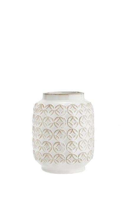 Vase en céramique petits ronds D:18x22 cm