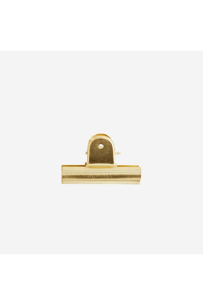 Pince rectangle dorée 7cm - 1