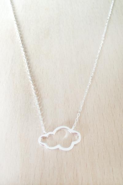 Collier nuage argent