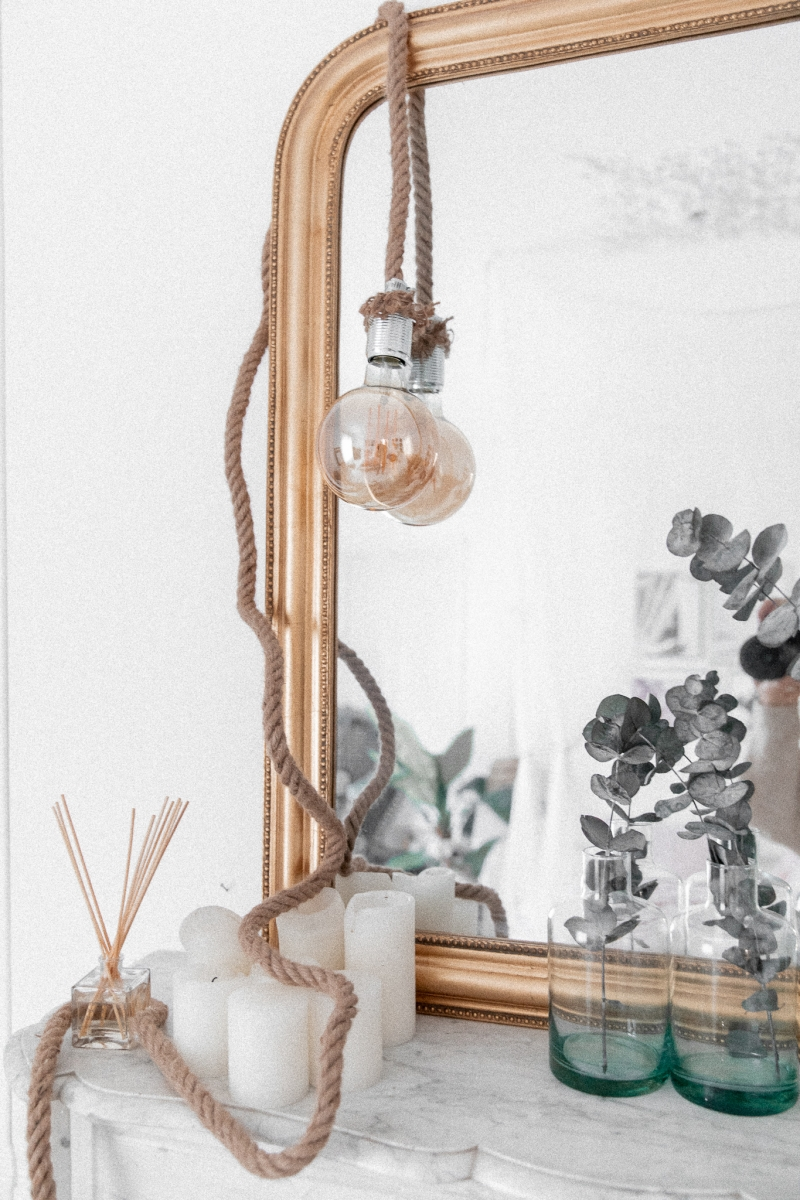 Lampe corde médium avec prise 3m