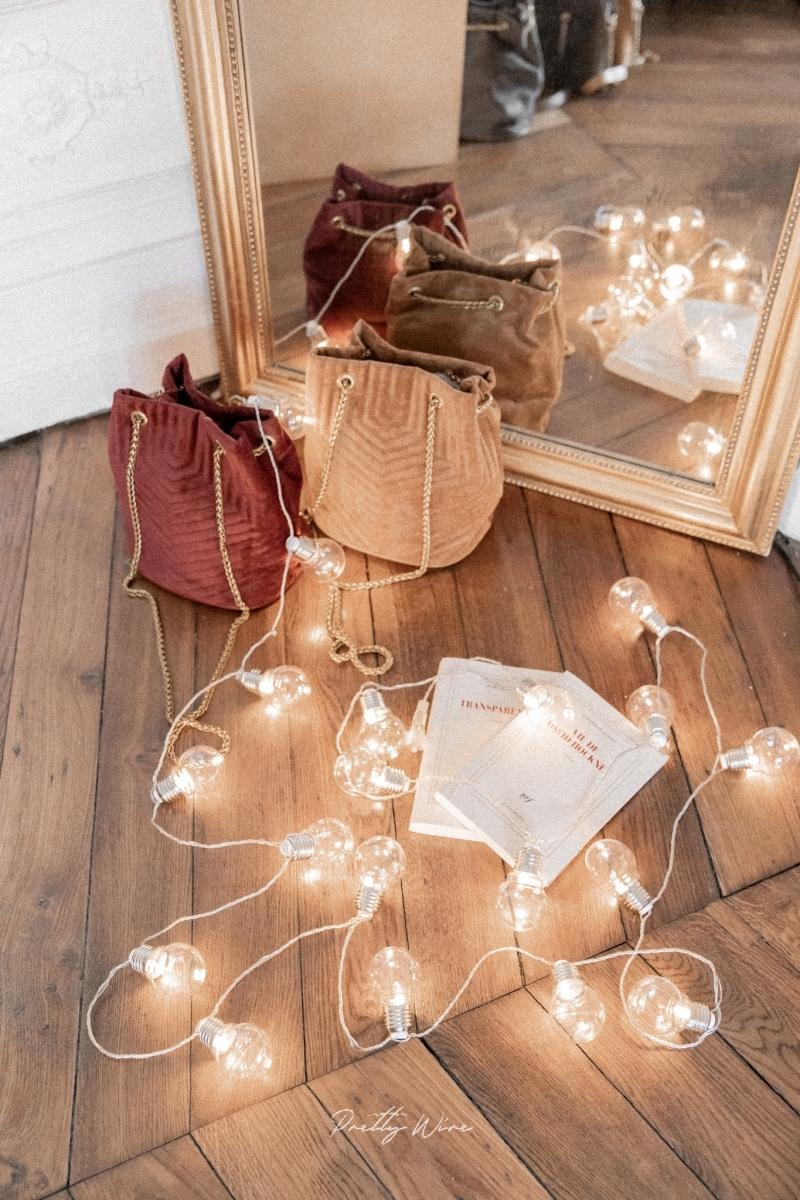 Guirlande GUINGUETTE argentées intérieur/extérieur 20 ampoules 390cm