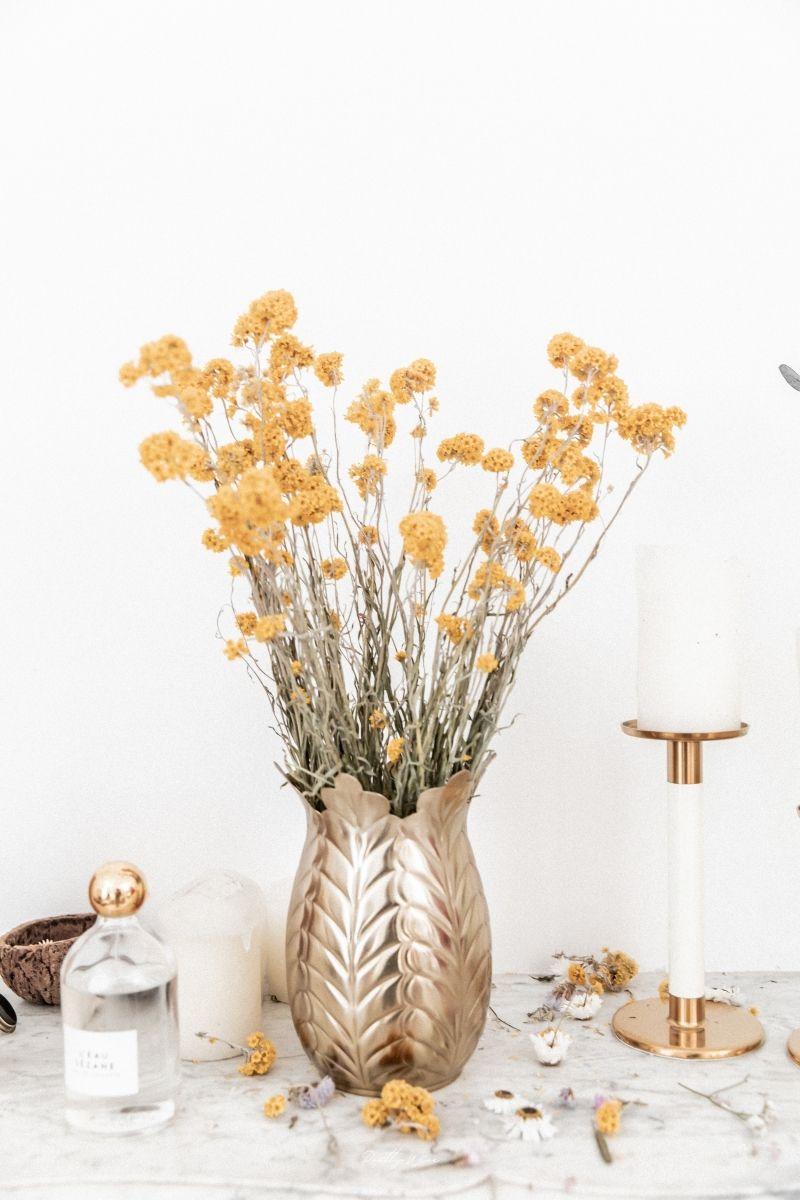 Bouquet de fleurs séchées Sanfordii Jaune