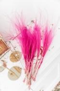 STIPA PENATA Rose - Bouquet de fleurs séchées 50 cm