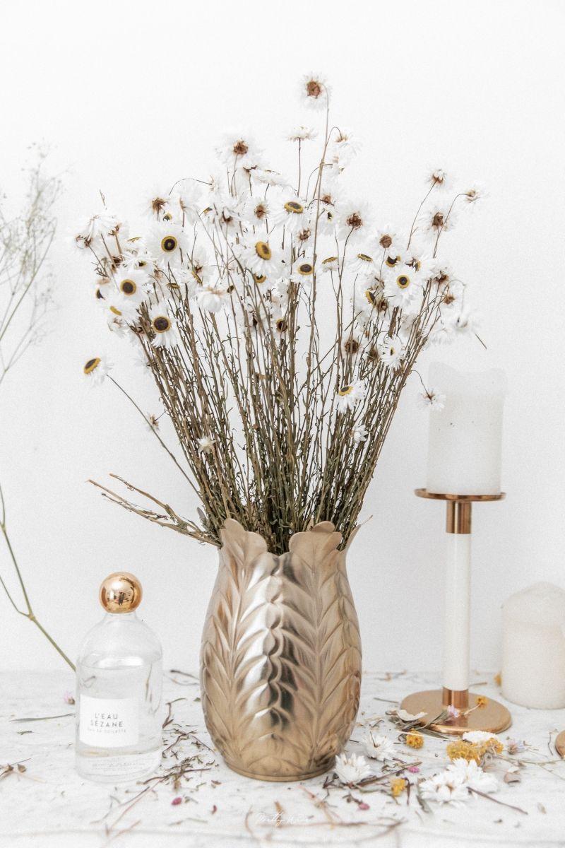 Bouquet de fleurs séchées Acroclinium Blanc