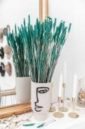 EPIS DE BLE Turquoise - Bouquet de fleurs séchées 70cm