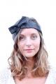 Headband noir à pois blancs