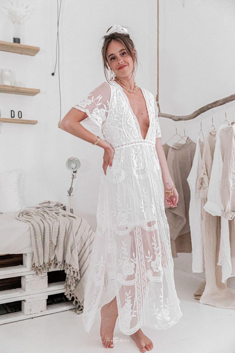 JULIETTE Blanche - Robe Longue et doublée