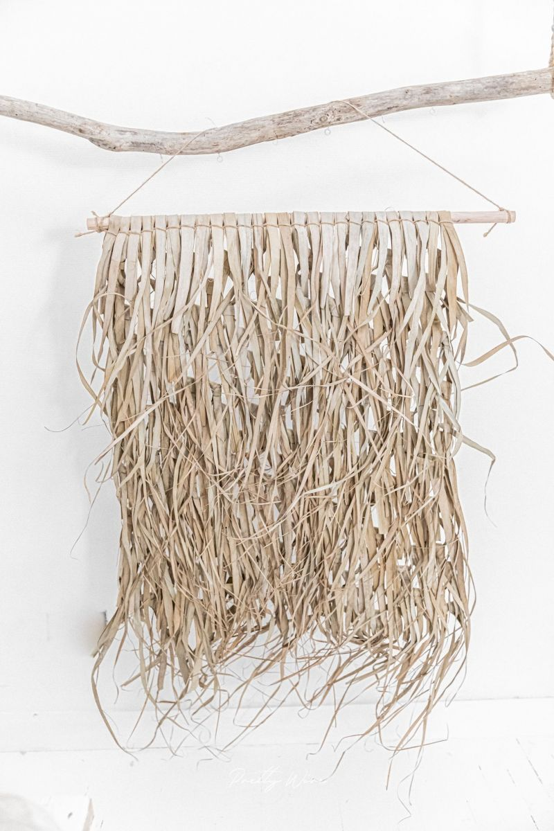 PRAIA - Grande décoration Feuille de Palmier sur bambou 125x150cm