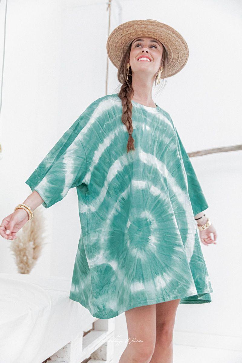 BALI Verte - Robe Tie & Dye