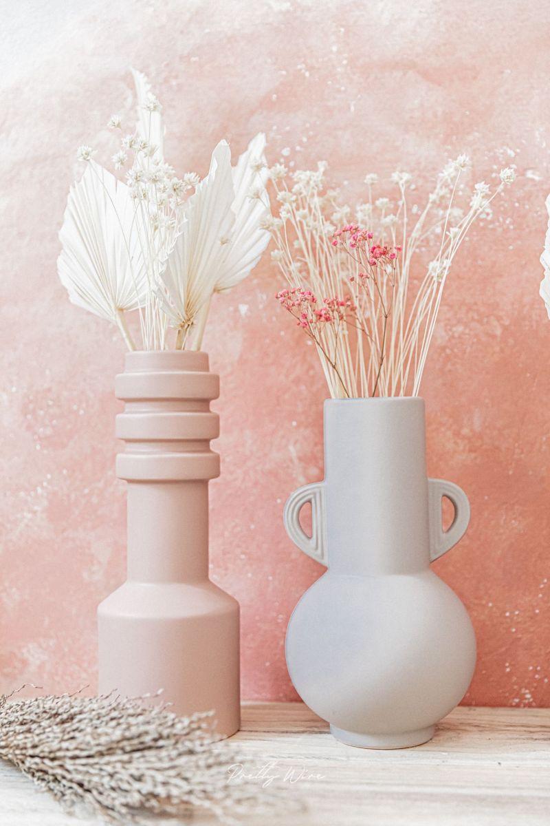 Vase Cylindre Nude en Céramique D11xH31cm