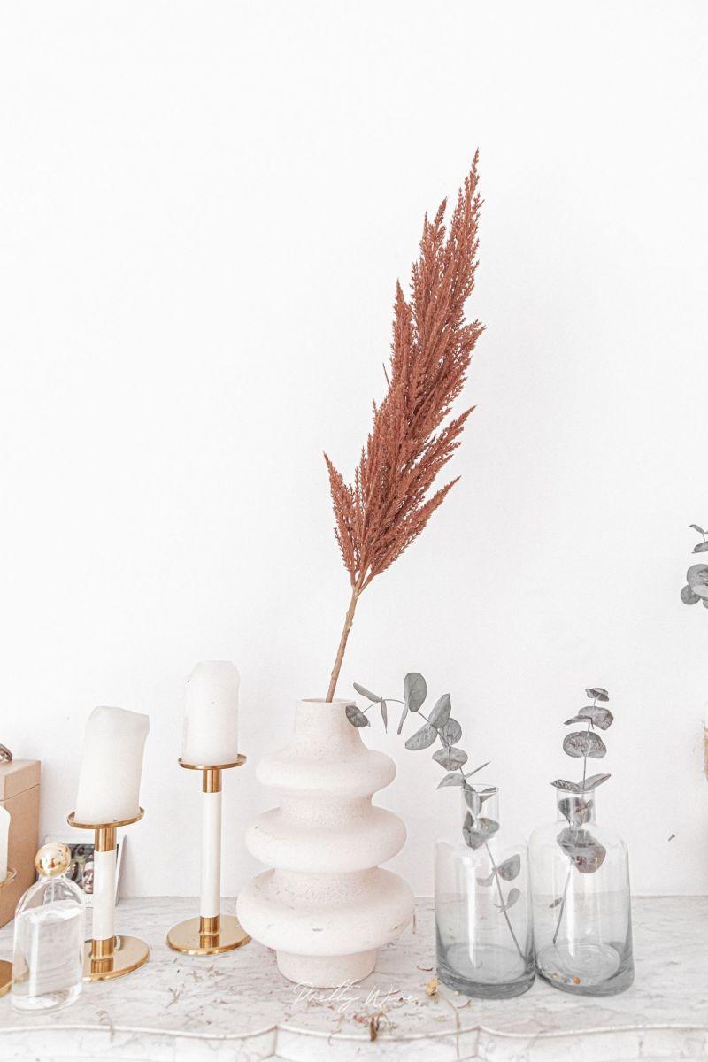 PAMPA ARTIFICIELLE Marron - Branche décorative