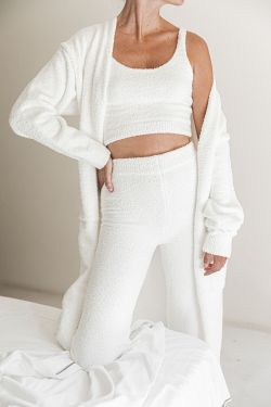 COMFY - Ensemble top & pantalon cocooning blanc