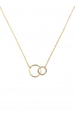 Collier double anneau plaqué or