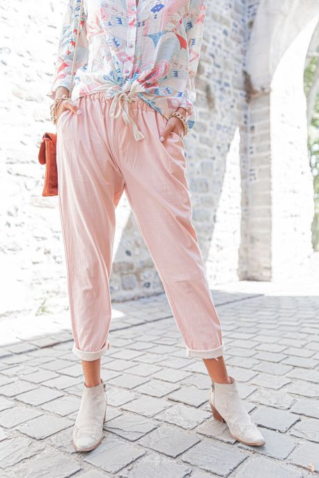 DIEGO ROSE - Pantalon en Lin
