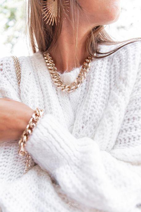 TESSIE - Collier mailles dorées