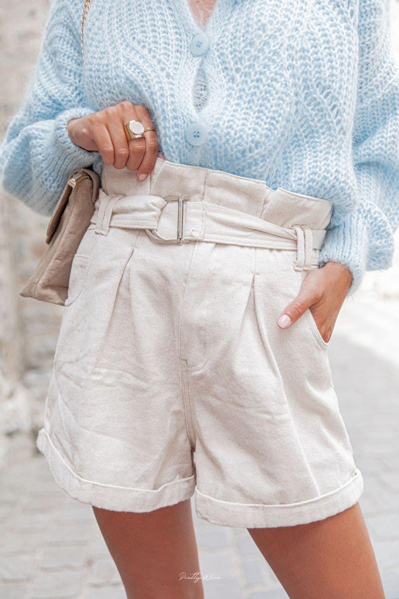 TOM BEIGE - Short en coton
