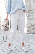 DIEGO GRIS - Pantalon en llin