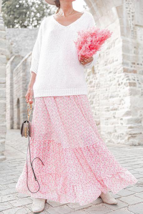 MANON ROSE - Jupe longue fleurie