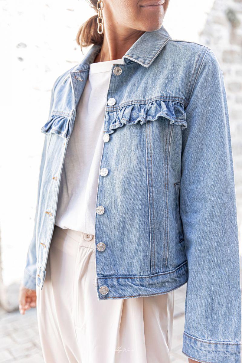 ROXIE - Veste en jean à volants