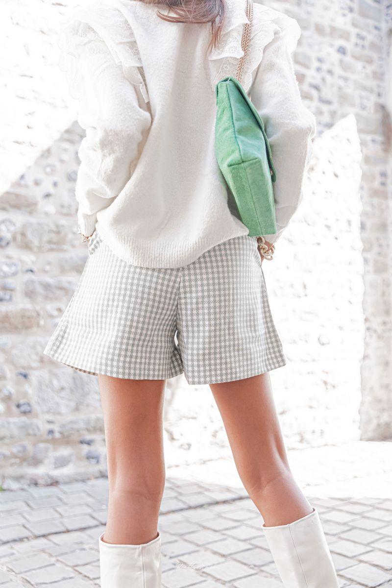 VICHY Vert - Short à carreaux