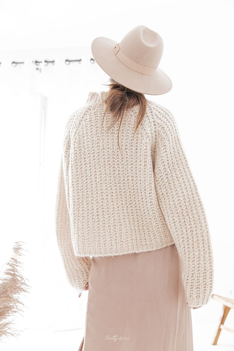 LOUISE Beige - Maille mohair