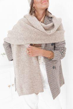 HEAVEN Beige - Echarpe en laine