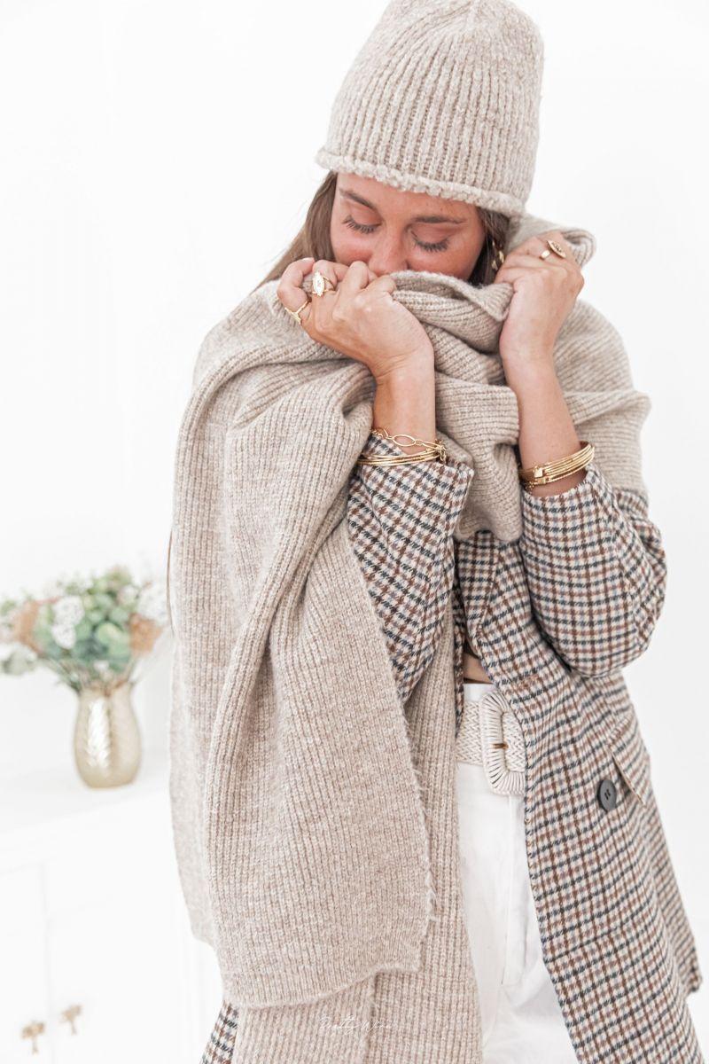 HEAVEN Beige - Bonnet en laine