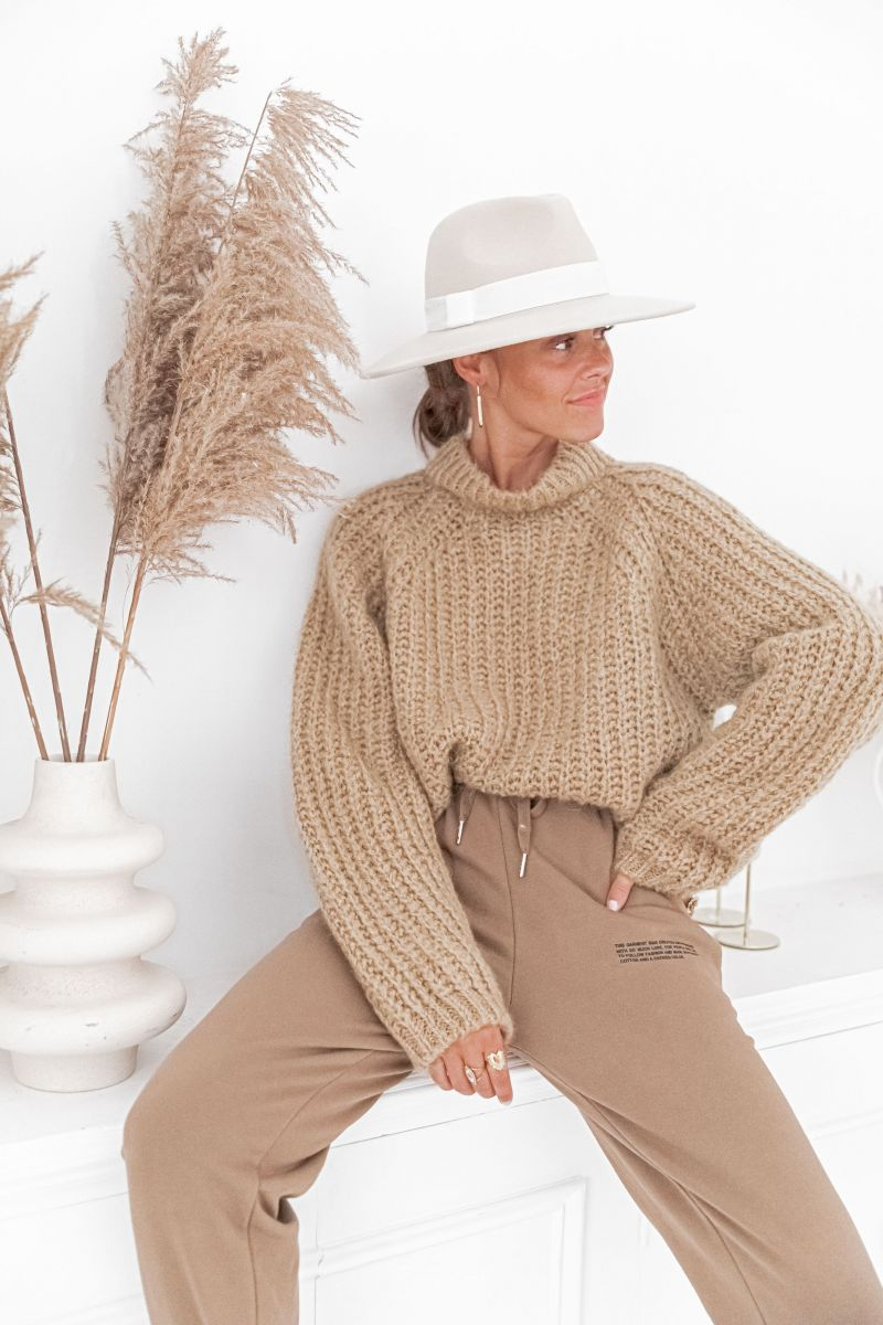 LOUISE Camel - Maille mohair