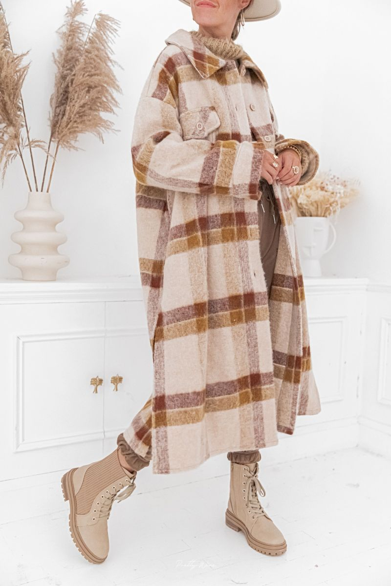 LUCIEN Camel - Manteau en laine