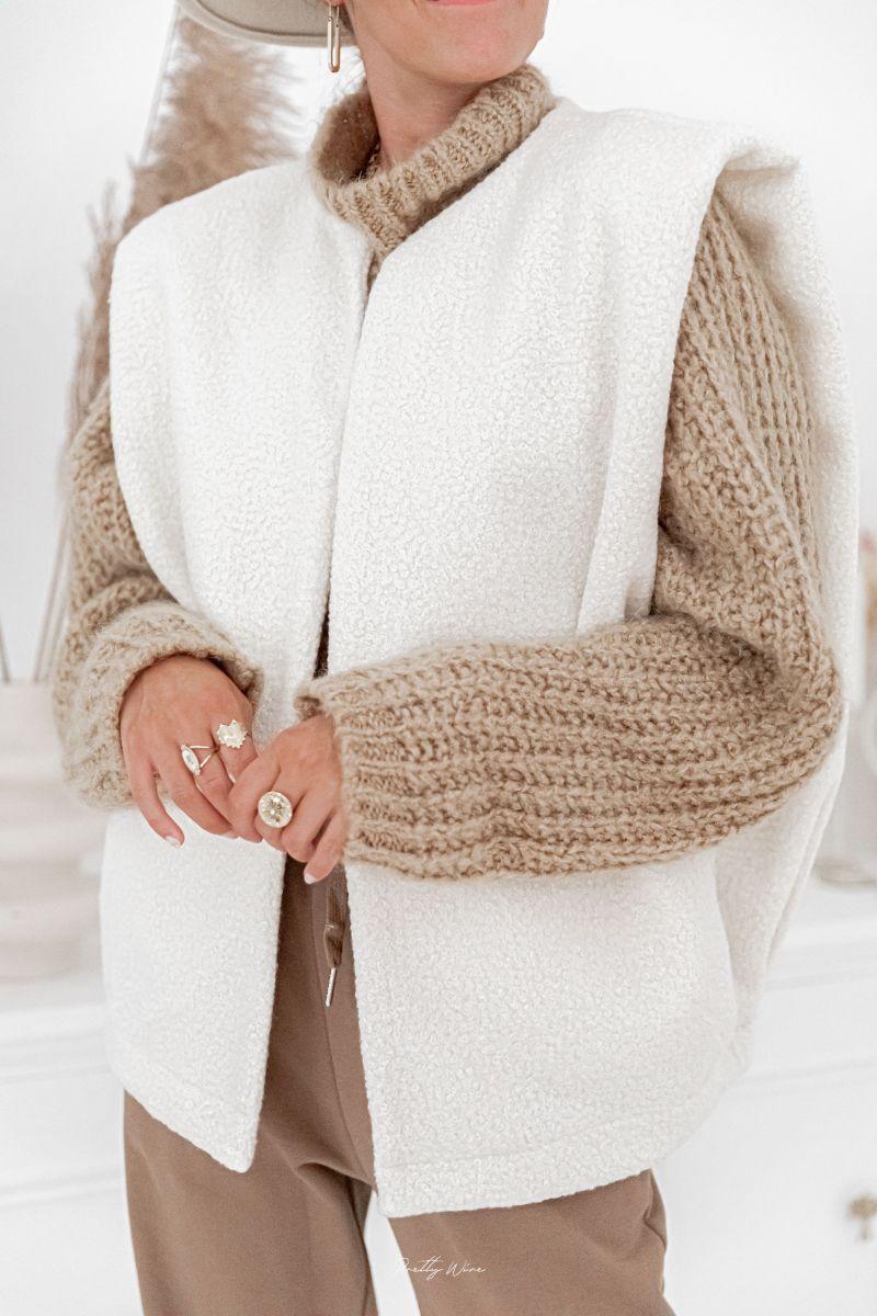 MOLLY Ecrue - Veste sans manches