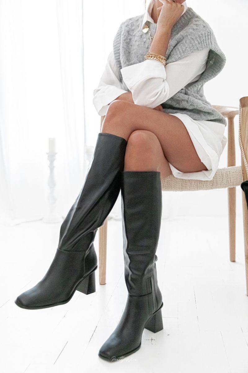 LIANA Noires - Bottes à talons