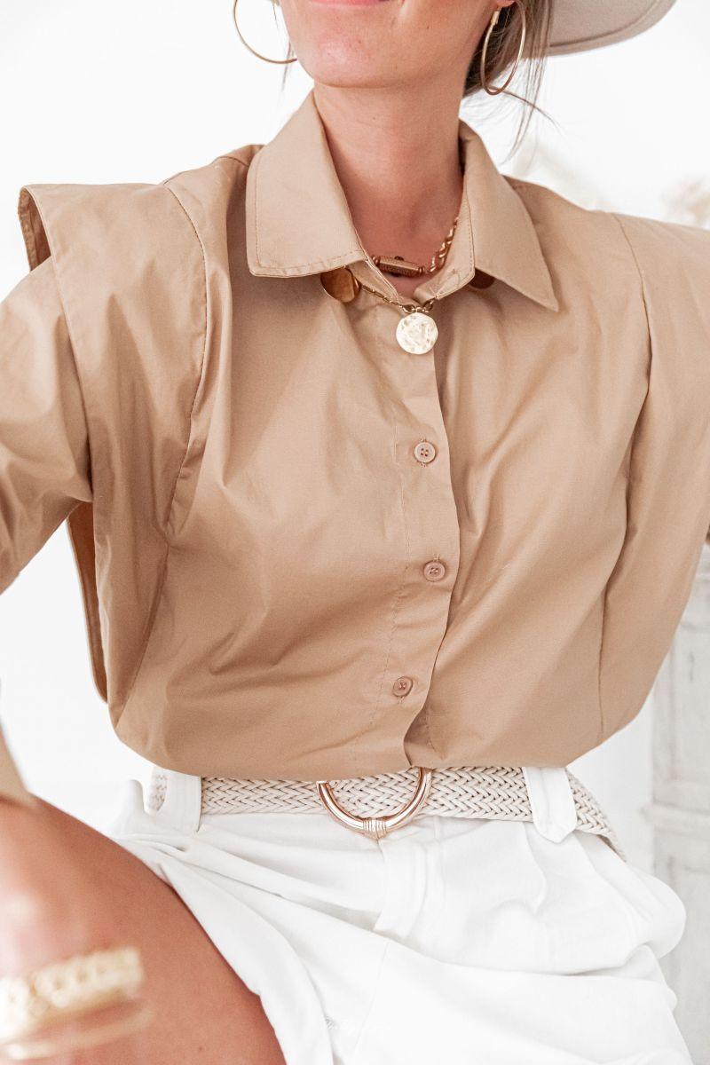ARIANE Camel - Chemise à épaulettes