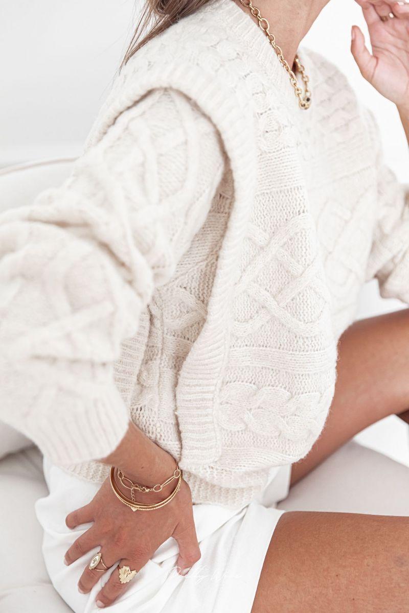 ACHILLE Beige - Maille en laine
