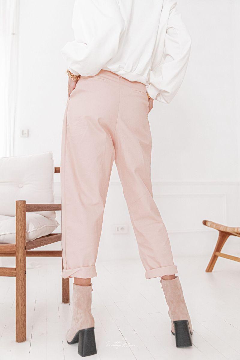 MALO ROSE - Pantalon ceinture corde