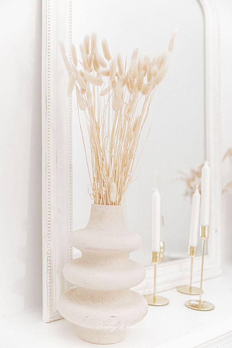 LAGURUS Blanc - Bouquet de fleurs séchées 70cm