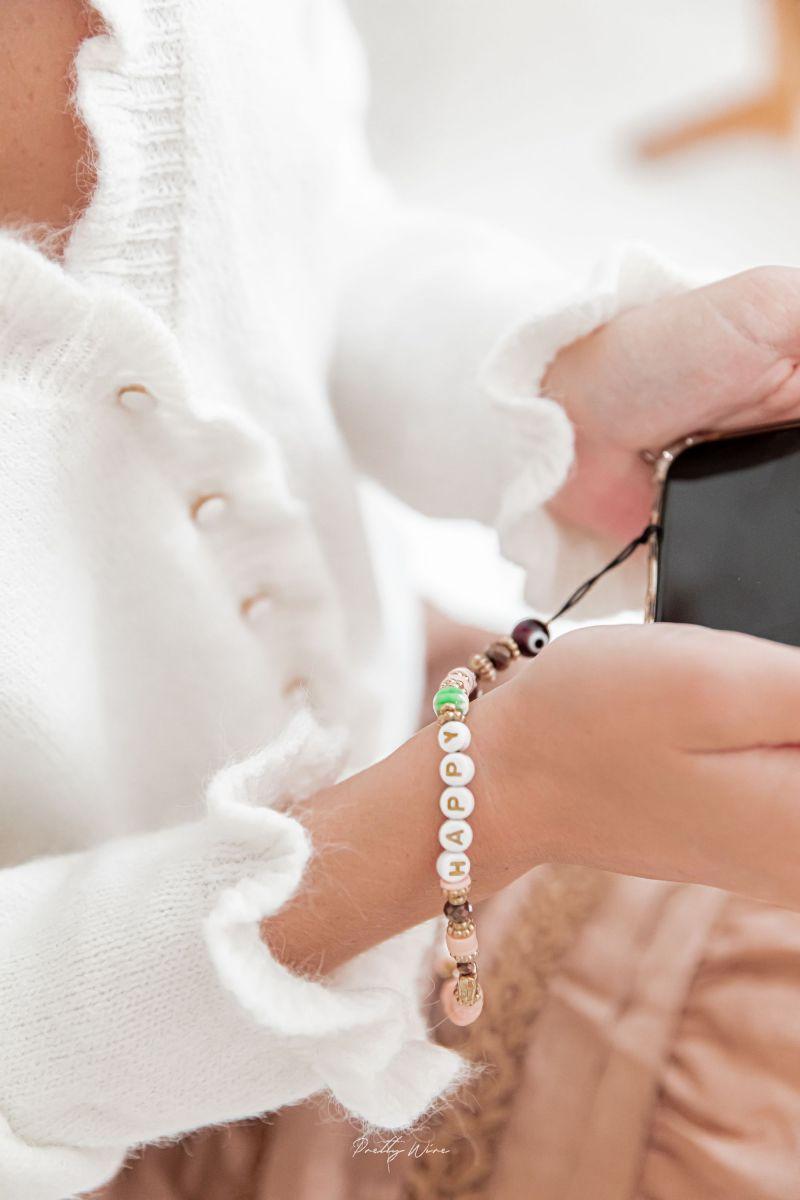HAPPY DREAM Rose - PETIT cordon de téléphone