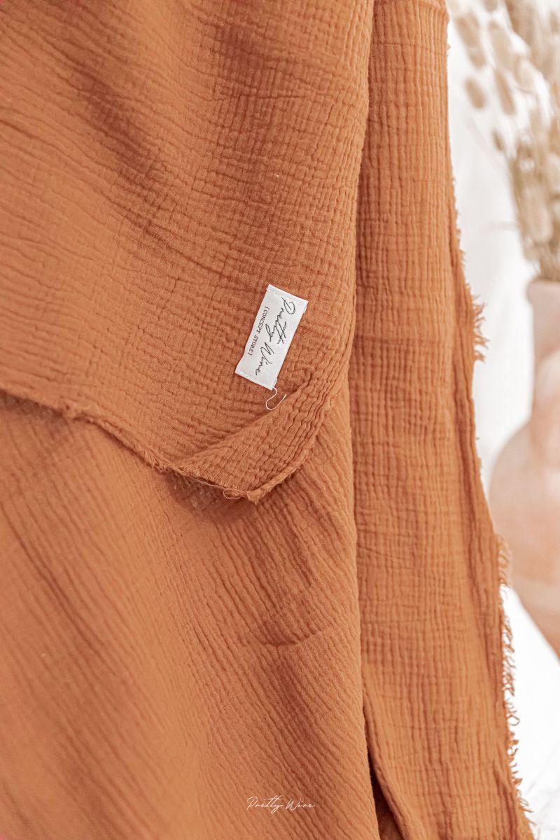 PEPITE CHOCOLAT - Drap/plaid en gaze de coton