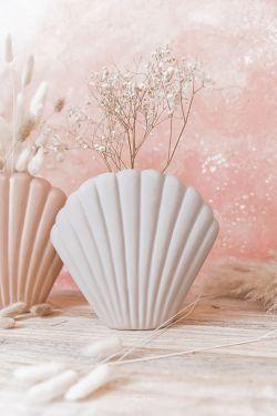 COQUILLAGE Gris - Vase en céramique