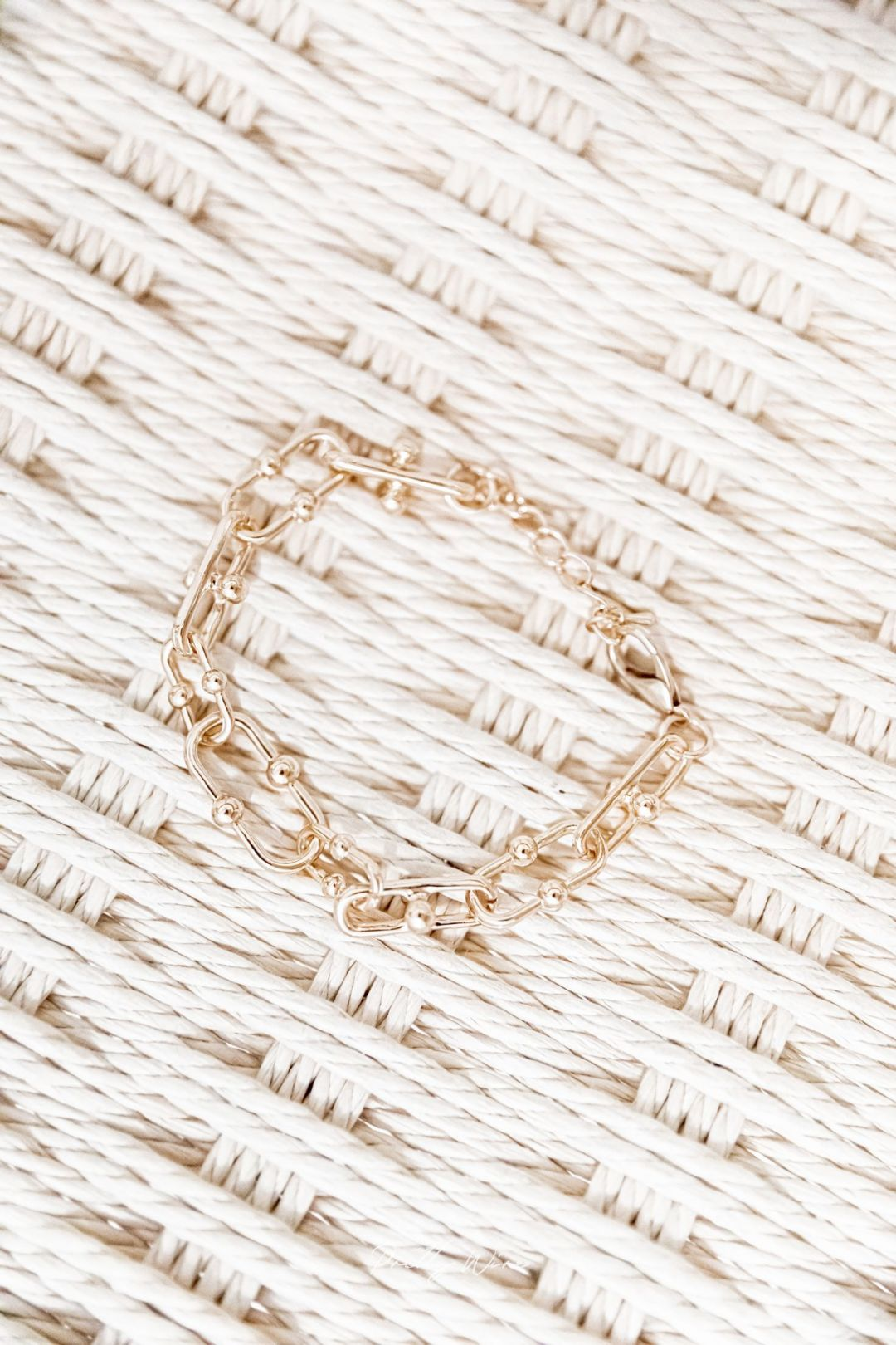 ORAMA - Bracelet maille doré