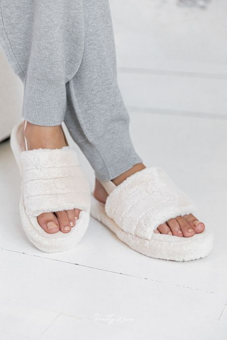 SOFT Beige - Chaussons cocooning